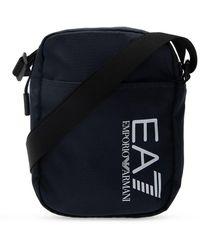 EA7 Branded Shoulder Bag Navy Blue