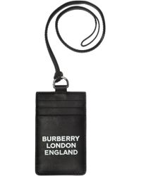 Burberry Logo-printed Card Case - Black