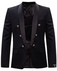 Balmain Button Blazer - Black