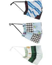 Ganni Organic Cotton Masks 3-pack - Multicolour