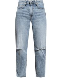 Rag & Bone Dre Low-rise Boyfriend - Stella Relaxed Fit Light Indigo Jean - Blue