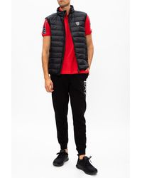 EA7 Quilted Down Vest - Red