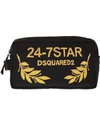 DSquared² - Logo-appliqued Wash Bag - Lyst