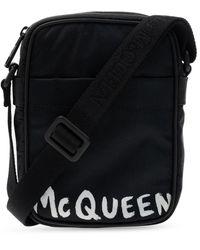 Alexander McQueen Branded Shoulder Bag - Black