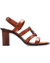 Loewe 'anagram' Heeled Sandals - Brown