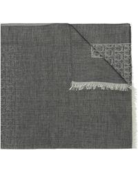 Ferragamo Scarf With Logo - Grey