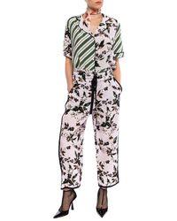 Diane von Furstenberg Floral-printed Pants Multicolor - Black
