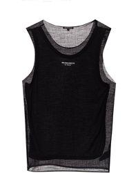 Ann Demeulemeester Sleeveless T-shirt - Black