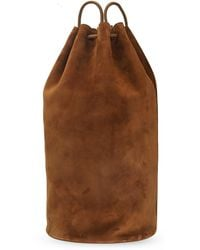 The Row Suede Backpack - Brown