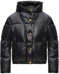 Versace Quilted Down Jacket Black