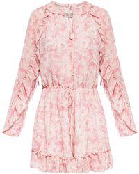 AllSaints - 'flora' Dress With Tie Fastening - Lyst