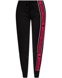 Love Moschino Patterned Joggers - Black
