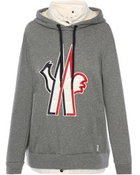 Moncler Grenoble   Sweatshirt With Down Collar   Lyst