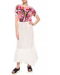 Marni Floral Print Short-sleeve T-shirt - White