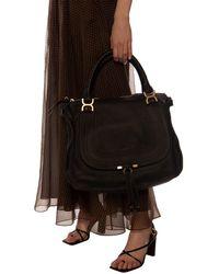 Chloé - 'marcie' Shoulder Bag Black - Lyst