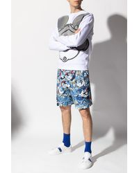 Iceberg Belted Shorts - Blue