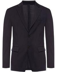 Versace Wool Blazer Navy Blue