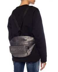 DIESEL 'tribelt' Belt Bag With Logo Silver - Metallic