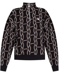 Fila Track Jacket With Stand-up Collar Black