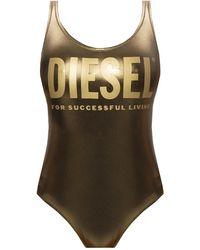 DIESEL Low-back Swimsuit - Metallic