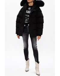 DSquared² Down Jacket With Logo Black