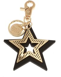 See By Chloé Keyring With Star Pendants - Black