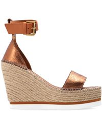 See By Chloé Wedge Sandals Brown