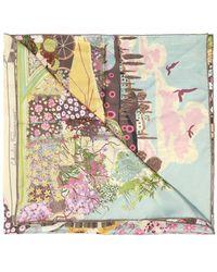 Ferragamo Silk Scarf With Floral Motif - Multicolour