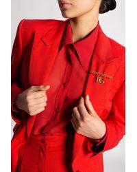 Dolce & Gabbana Brooch With Logo - Metallic