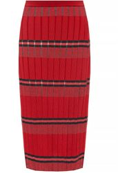 Marni Pleated Skirt - Red