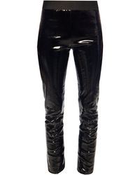 Ann Demeulemeester Leather Trousers - Black