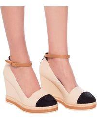 Tory Burch Color-block Ankle-strap Espadrilles Wedges - Multicolour