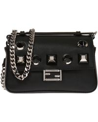 54b669e18410 Lyst - Fendi Double Micro Baguette Bag in Black