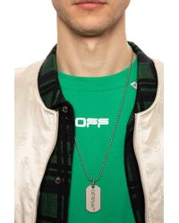 Off-White c/o Virgil Abloh Necklace With Logo Charm - Metallic