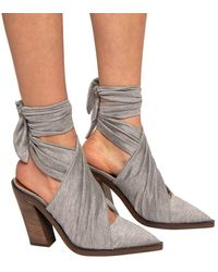 Burberry Knotted Mules Grey