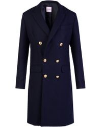 Palm Angels - Double-breasted Coat - Lyst