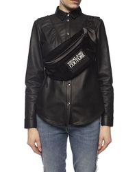 Versace Jeans Belt Bag With Logo Black