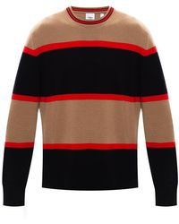Burberry Colour-block Jumper Brown