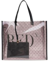 RED Valentino Printed Tote Bag - Pink
