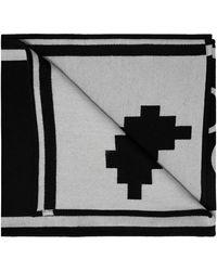 Marcelo Burlon Scarf With Logo - Black