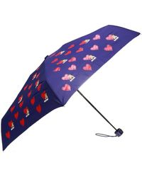 Moschino Patterned Umbrella - Blue