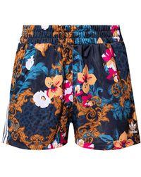 adidas Originals Shorts With Logo Multicolor - Blue