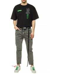Off-White c/o Virgil Abloh Belted Jeans Grey