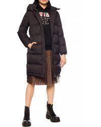 Burberry Detachable Hood Monogram Econyl® Puffer Coat - Black