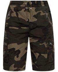 Balmain Camo Shorts - Green