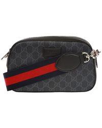 Gucci Gg-supreme Canvas Cross-body Bag - Black