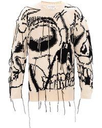 Alexander McQueen - Wool Sweater Cream - Lyst
