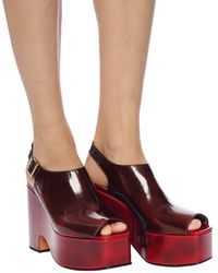 Marni Cut-out Platform Shoes Burgundy - Red