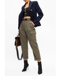 Balmain Trousers With Pockets - Green