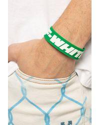 Off-White c/o Virgil Abloh Bracelet With Logo Green